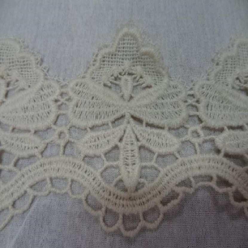 Macrame blanc casse aspect coton en 10cm de large9