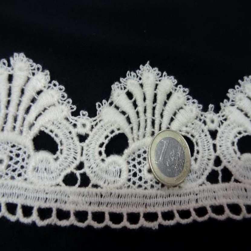 Macrame en 7 cm aspect coton blanc casse6