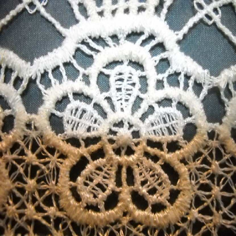 Macrame motifs floraux blanc casse en 10cm de large6
