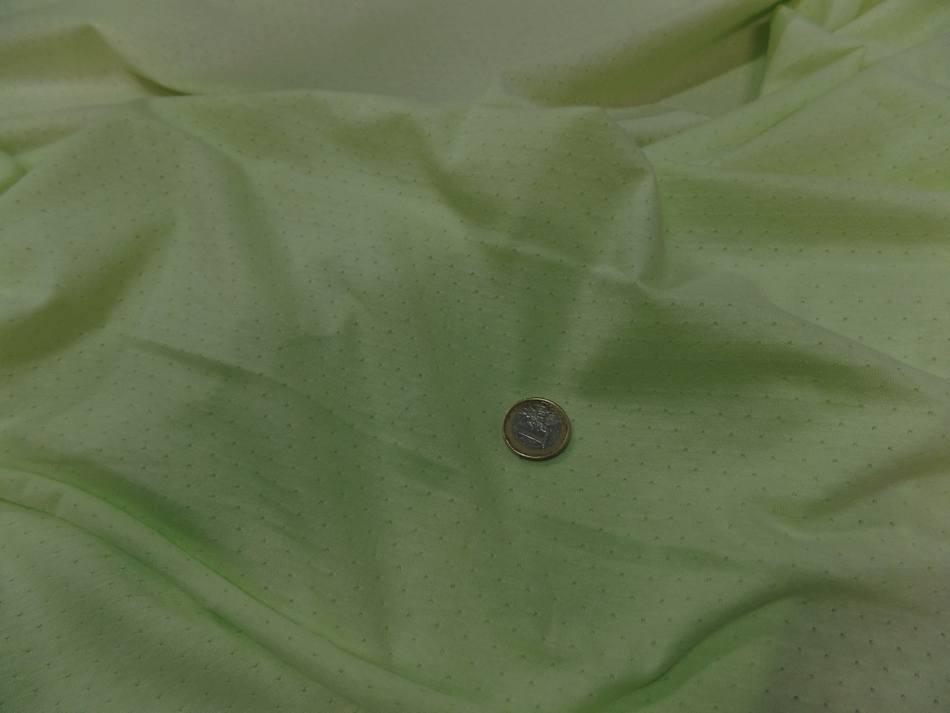 achat tissu Maile jersey coton fin vert anis façonné en 1.80m de large