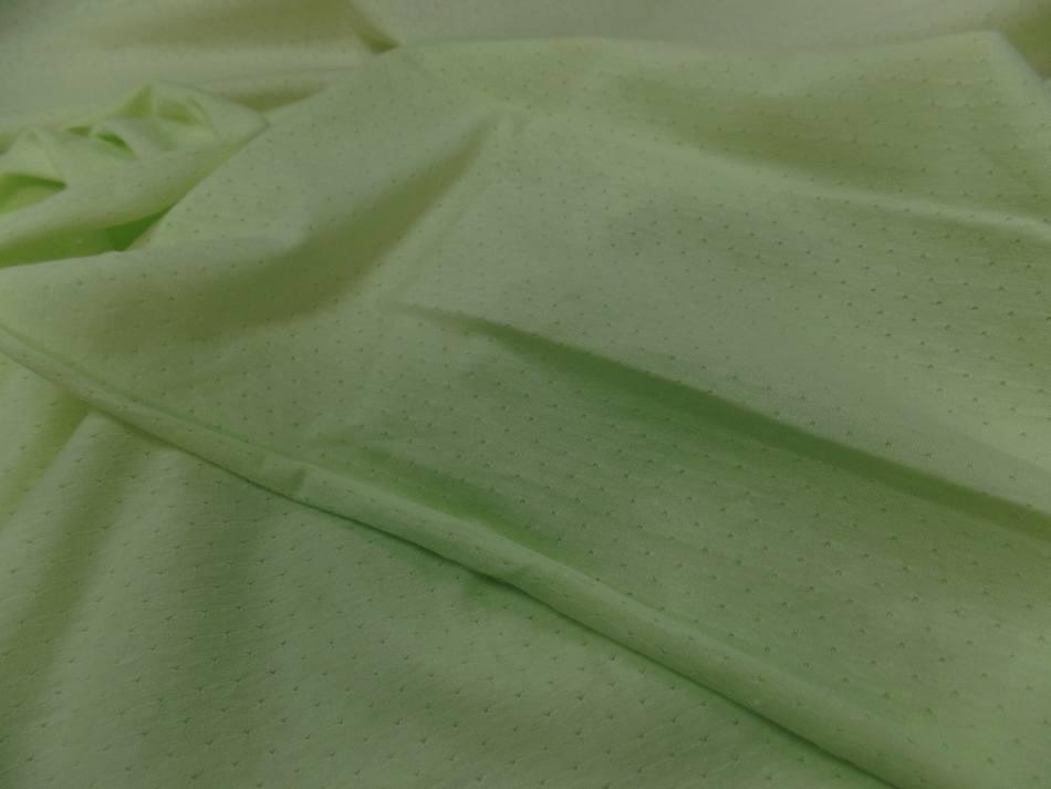vente de tissu Maile jersey coton fin vert anis façonné en 1.80m de large