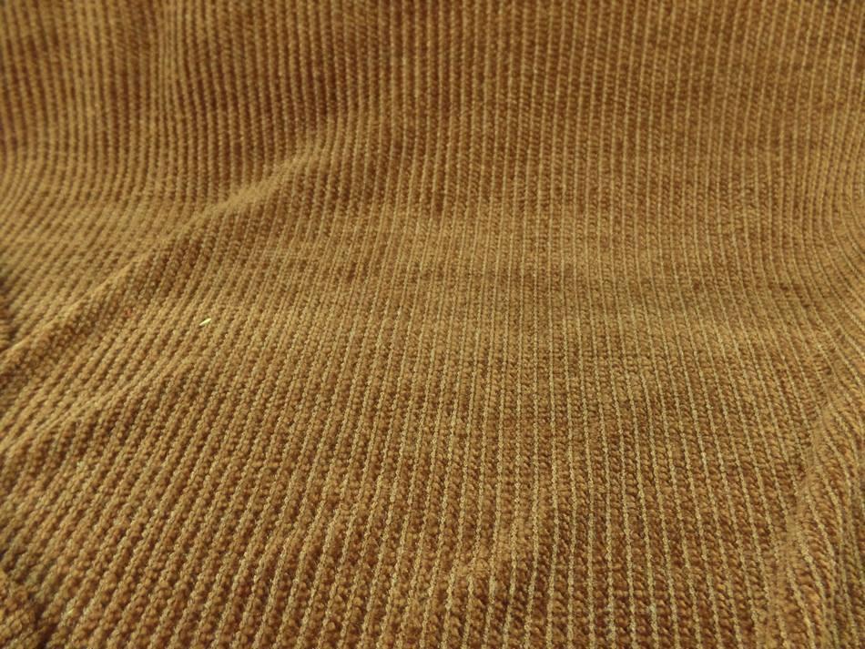 achat tissu maille aspect velours a cotes moutarde doré en 1.60m de large