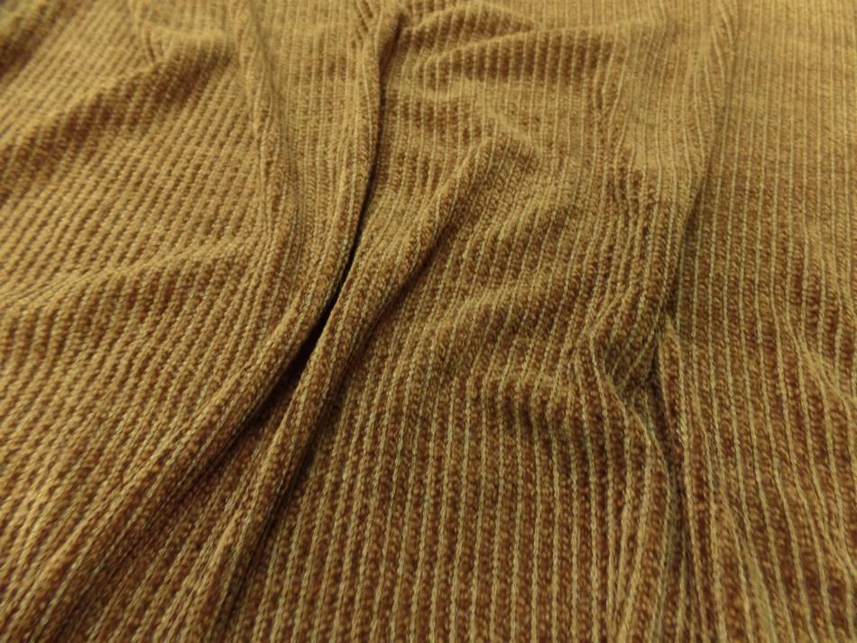 vente de tissu maille aspect velours a cotes moutarde doré en 1.60m de large
