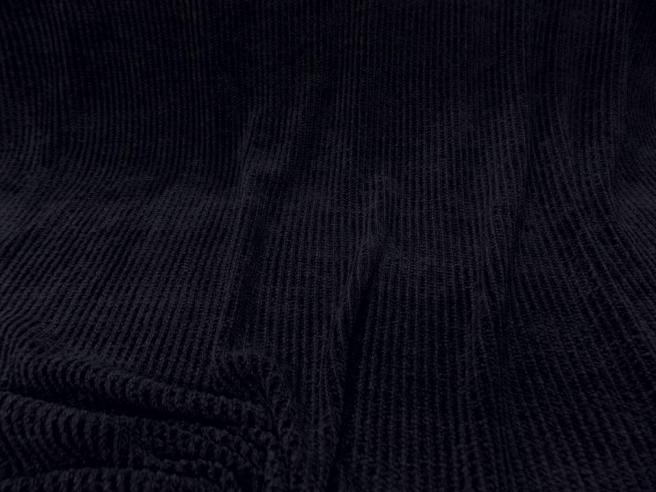 maille aspect velours a cotes ton bleu foncé en 1.60m de large