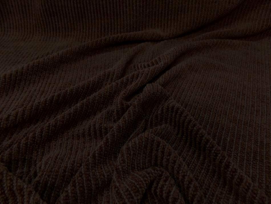 tissu Maille aspect velours a cotes ton marron en ligne