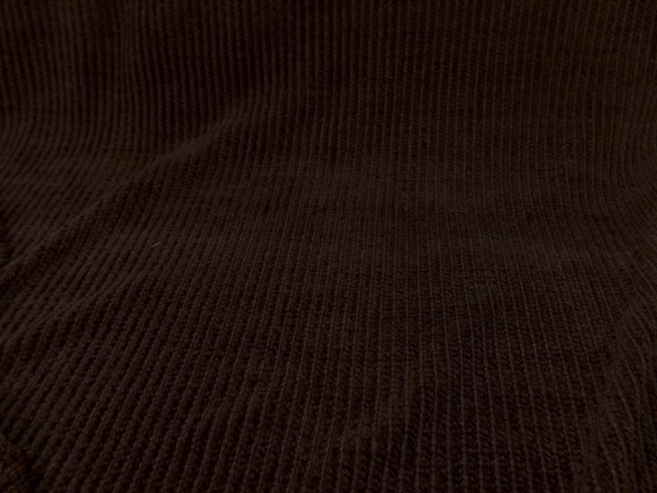 vente de tissu Maille aspect velours a cotes ton marron en 1 60m de large