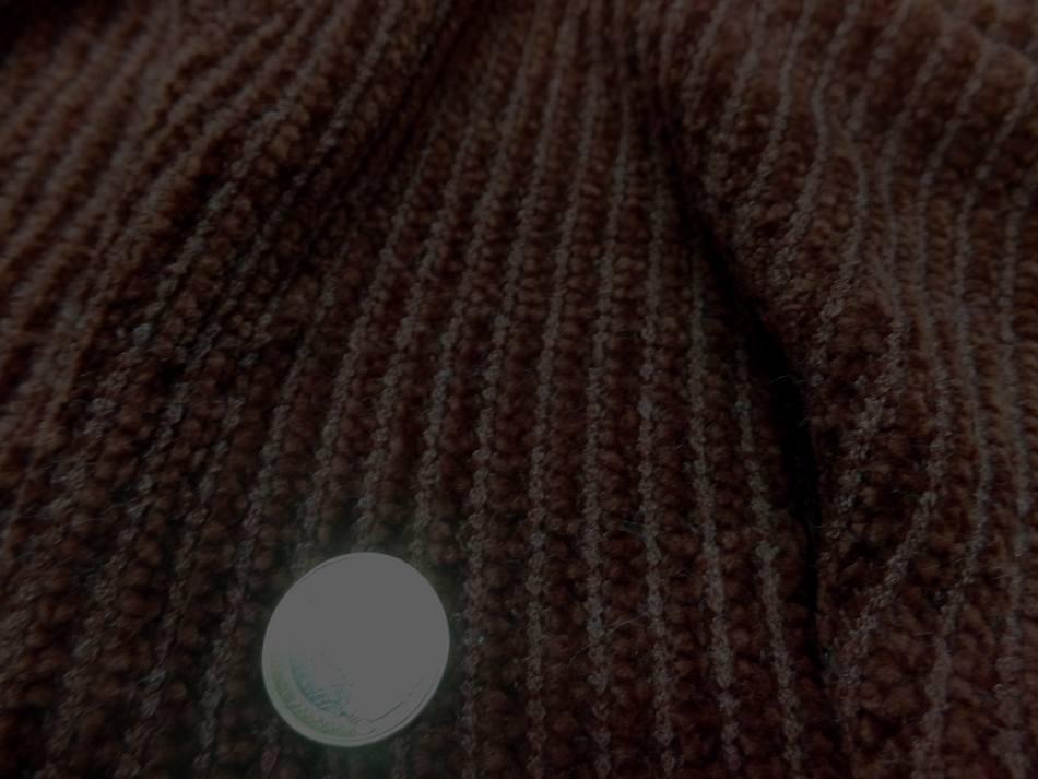achat tissu Maille aspect velours a cotes ton marron en 1 60m de large