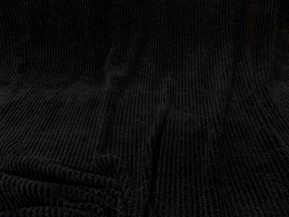 maille aspect velours a cotes ton noir en 1.60m de large