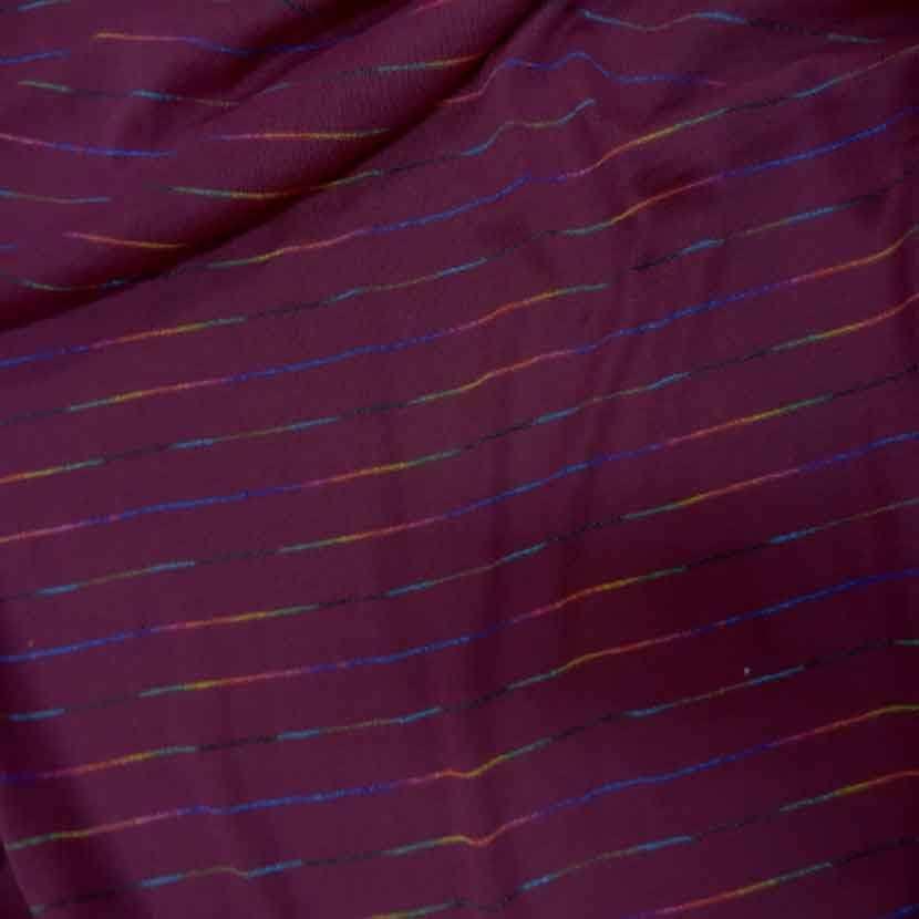 Maille bordeaux fuchsia a rayures multicolore0