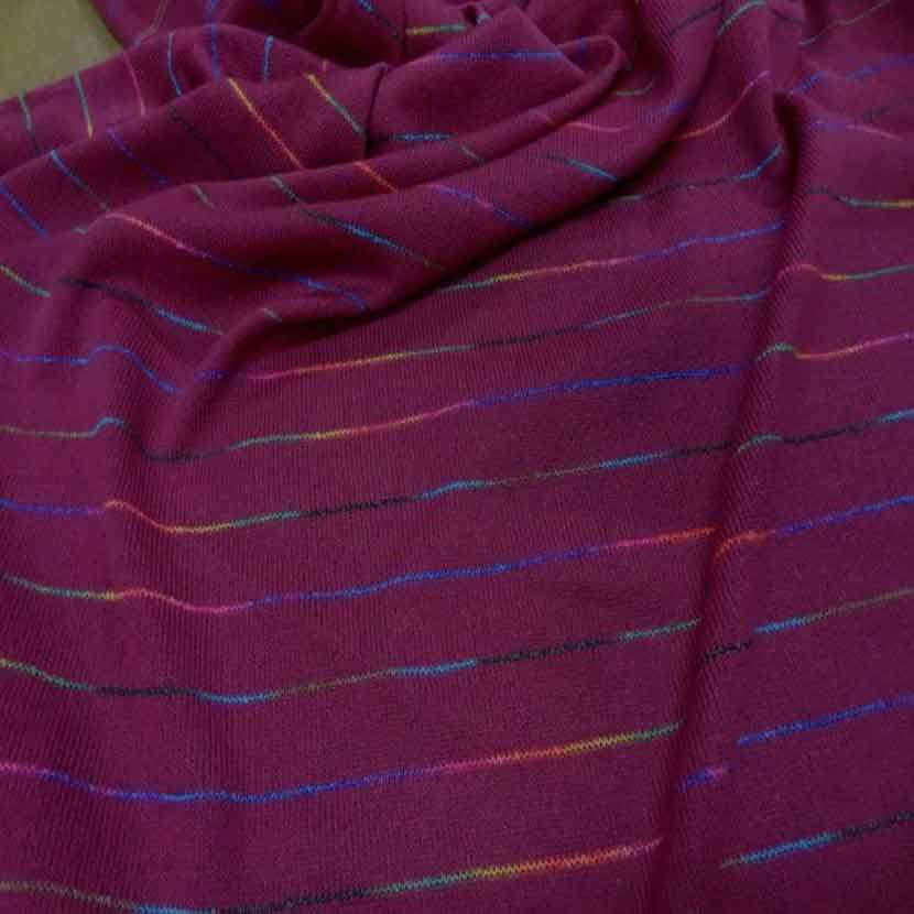 Maille bordeaux fuchsia a rayures multicolore9