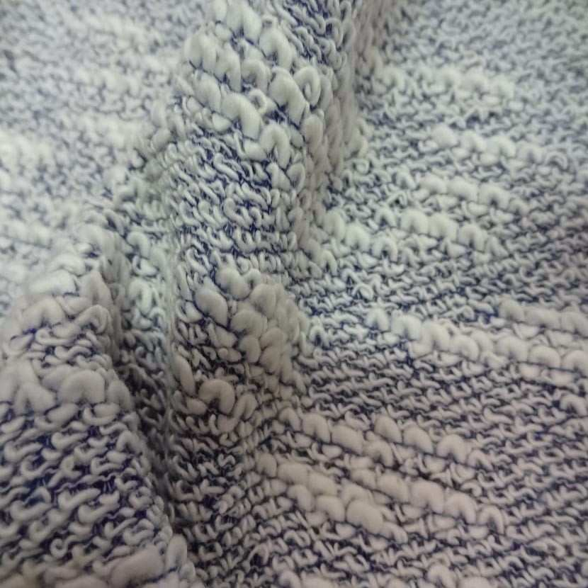 Maille coton blanc bleu1