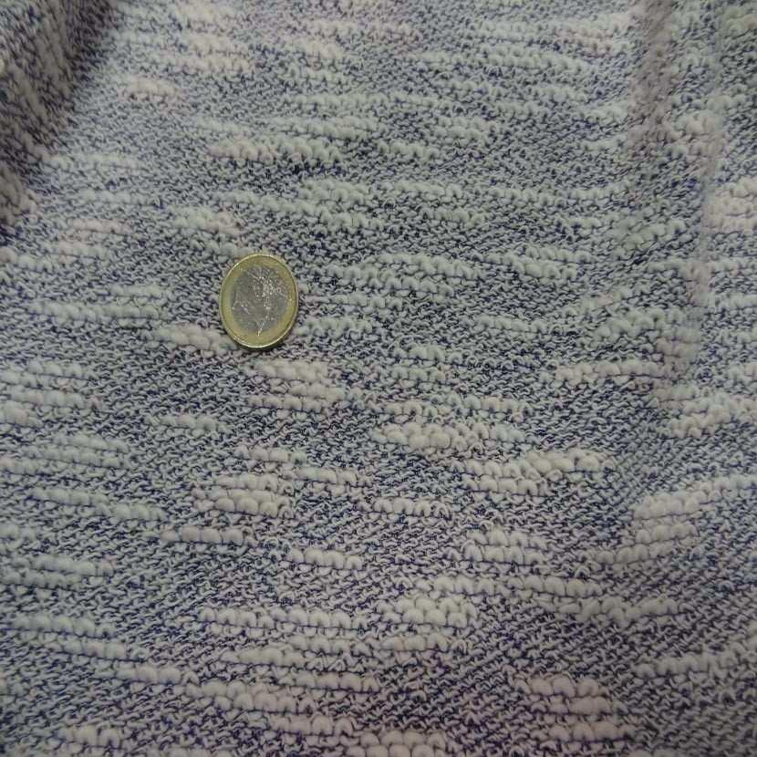 Maille coton blanc bleu5