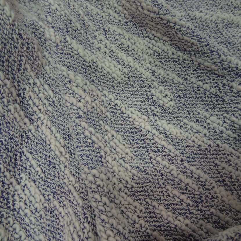 Maille coton blanc bleu6