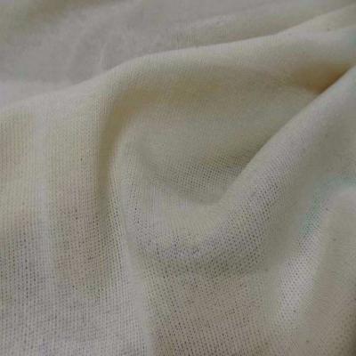 Maille coton melange blanc casse