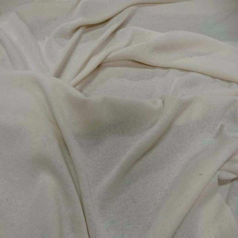 Maille coton melange blanc casse2