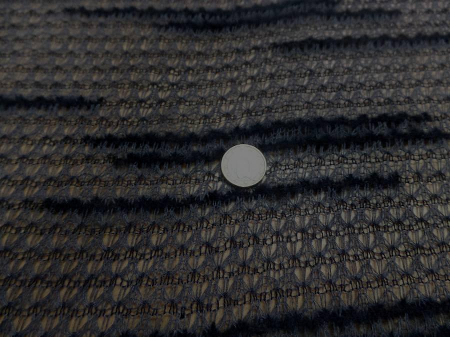 Maille faconne facon laine gris et noir2