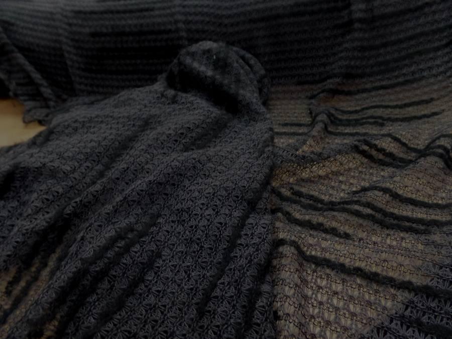 Maille faconne facon laine gris et noir8