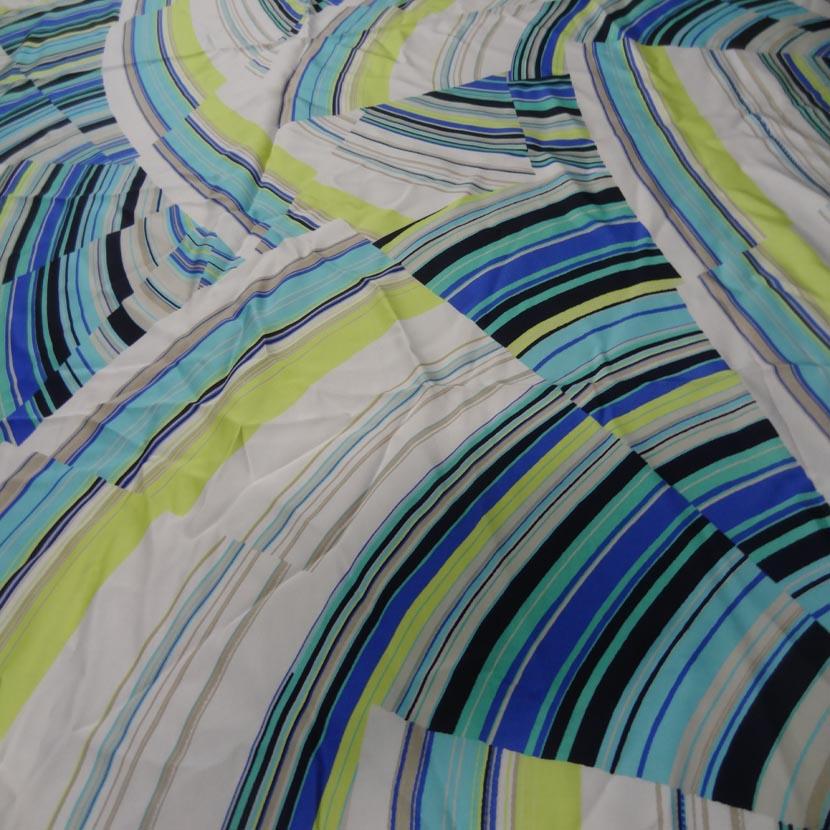 Microfibre blanche imprime ton anis bleu et noir2