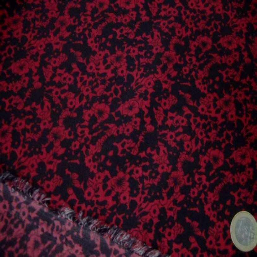 Microfibre imprime rouge noir