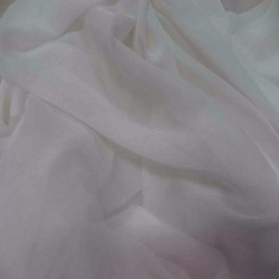 Mousseline crepon ne blanche en polyester2