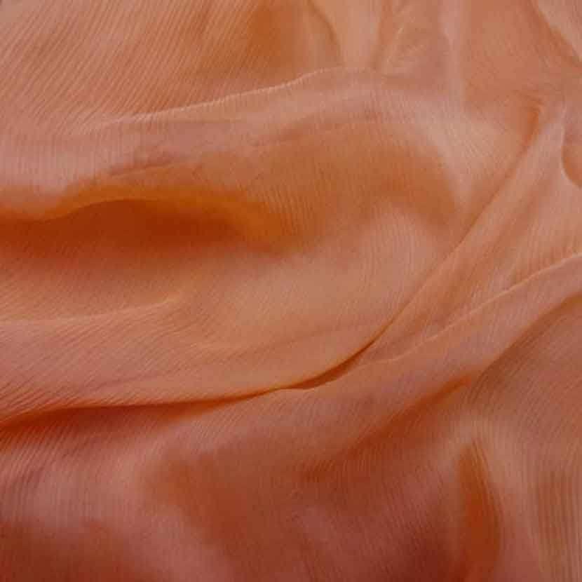 Mousseline crepon ne en soie 100 saumon3