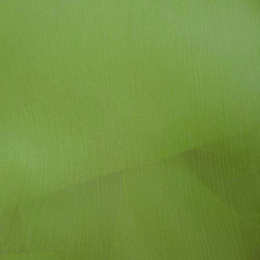 Mousseline crepon ne en soie 100 vert anis 1 45m4