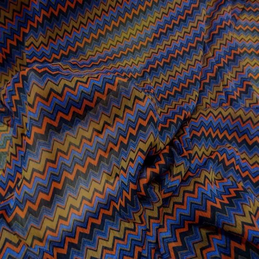 Mousseline crepon ne imprime en polyester4