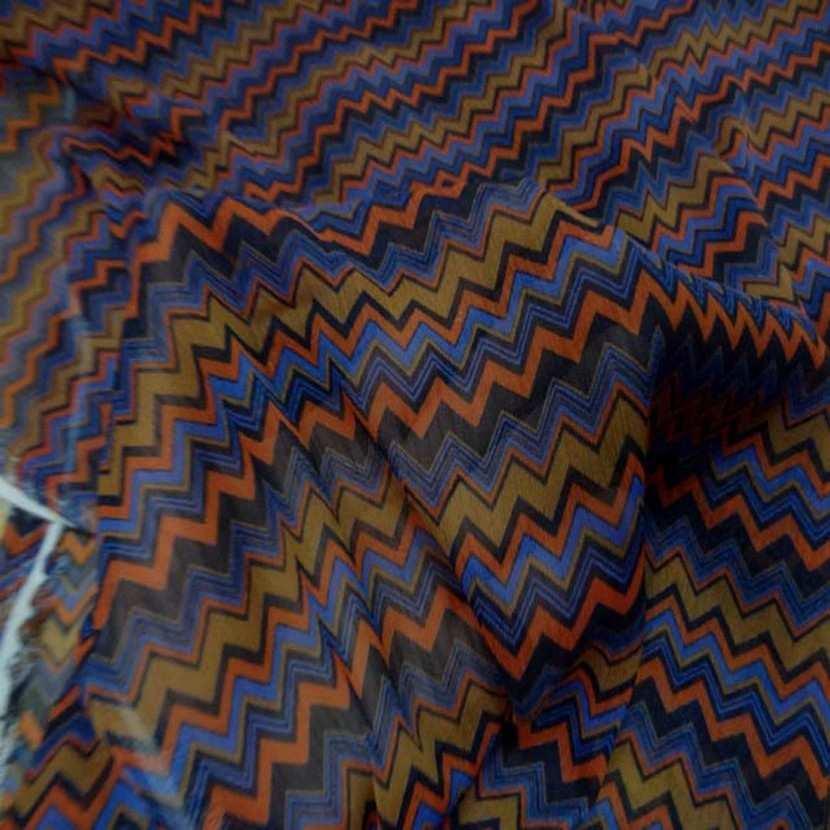 Mousseline crepon ne imprime en polyester6