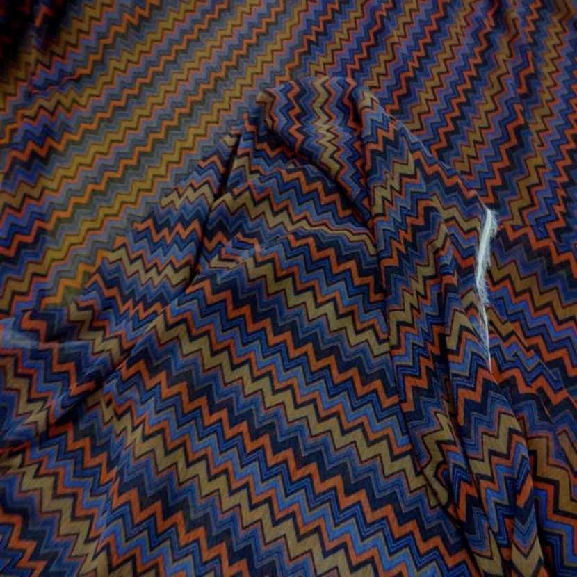 Mousseline crepon ne imprime en polyester9