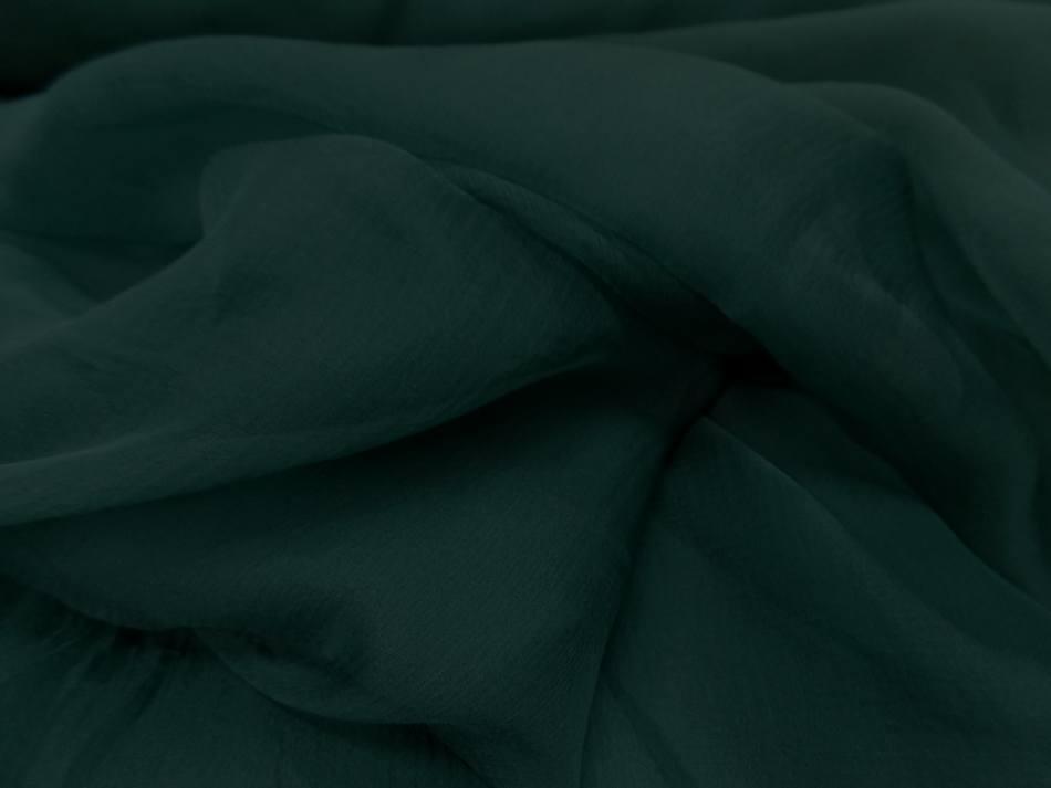 Mousseline de soie 100 crepon ne bleu canard en 0 90m
