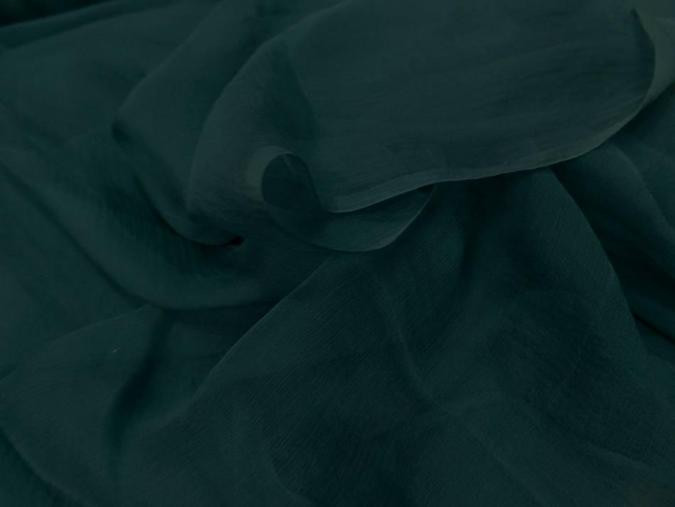 Mousseline de soie 100 crepon ne bleu canard en 0 90m0 1