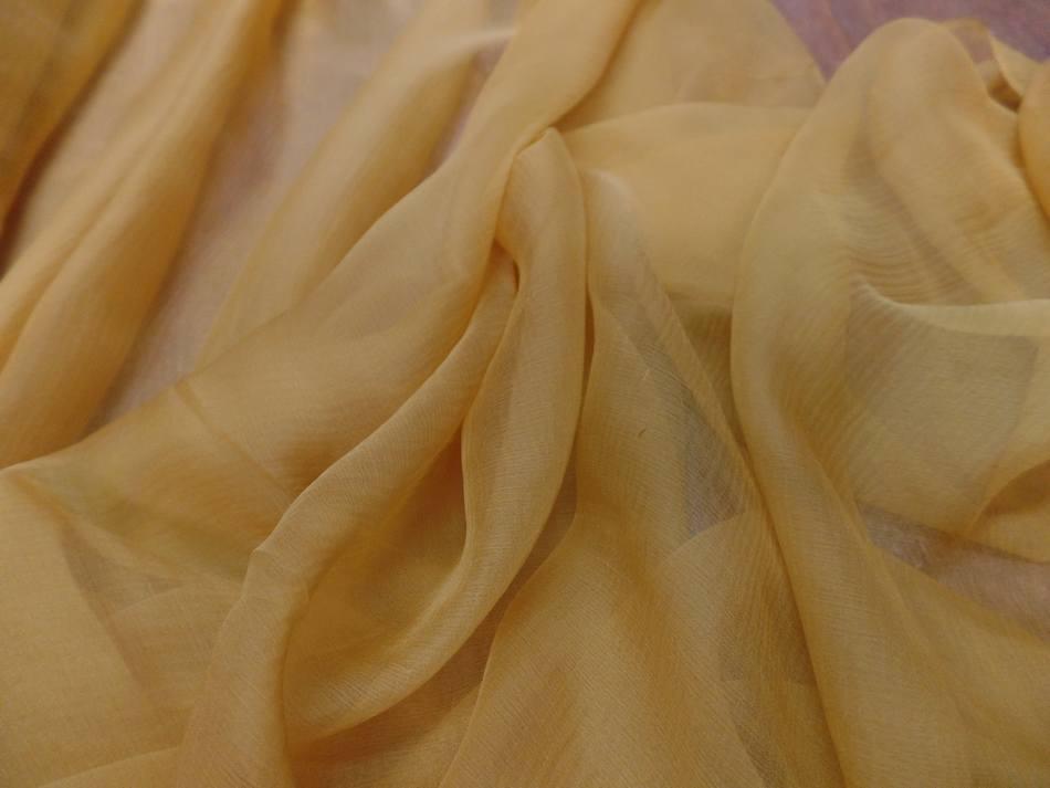 Mousseline de soie 100 crepon ne dore