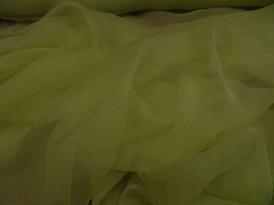 Mousseline de soie 100 crepon ne tilleul 2