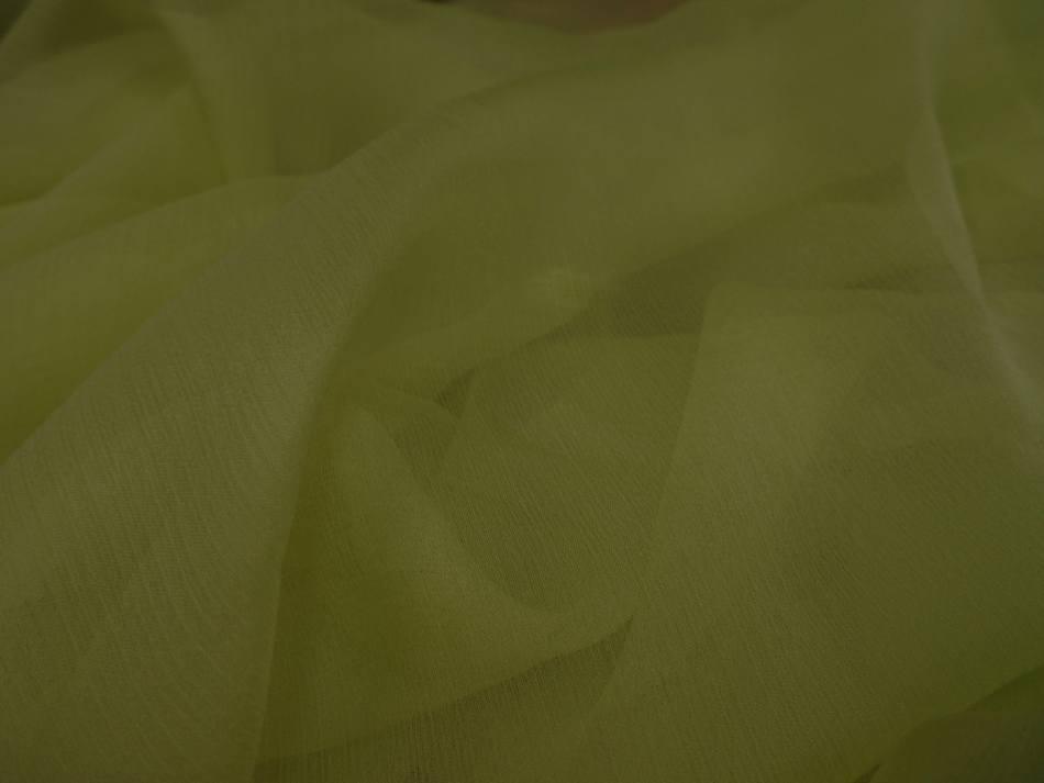 Mousseline de soie 100 crepon ne tilleul 4