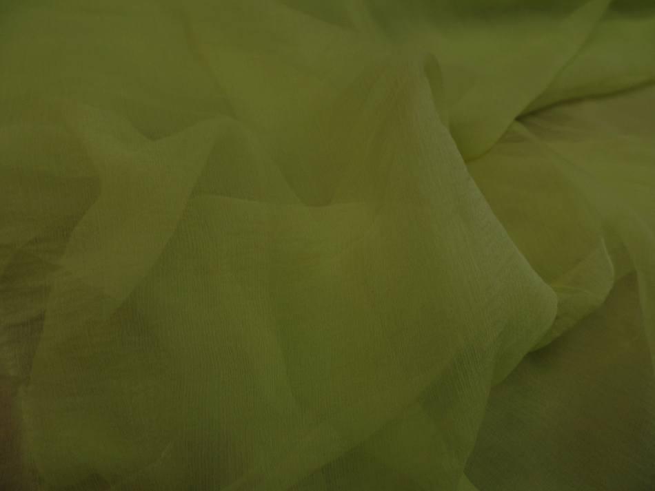 Mousseline de soie 100 crepon ne tilleul 6