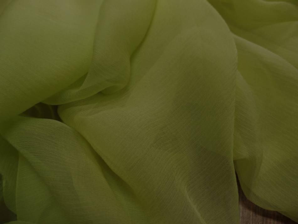 Mousseline de soie 100 crepon ne tilleul