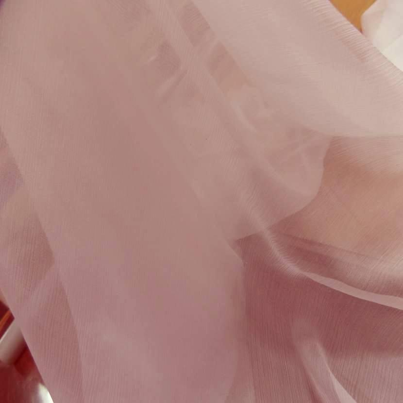 Mousseline de soie 100 crepon rose clair01
