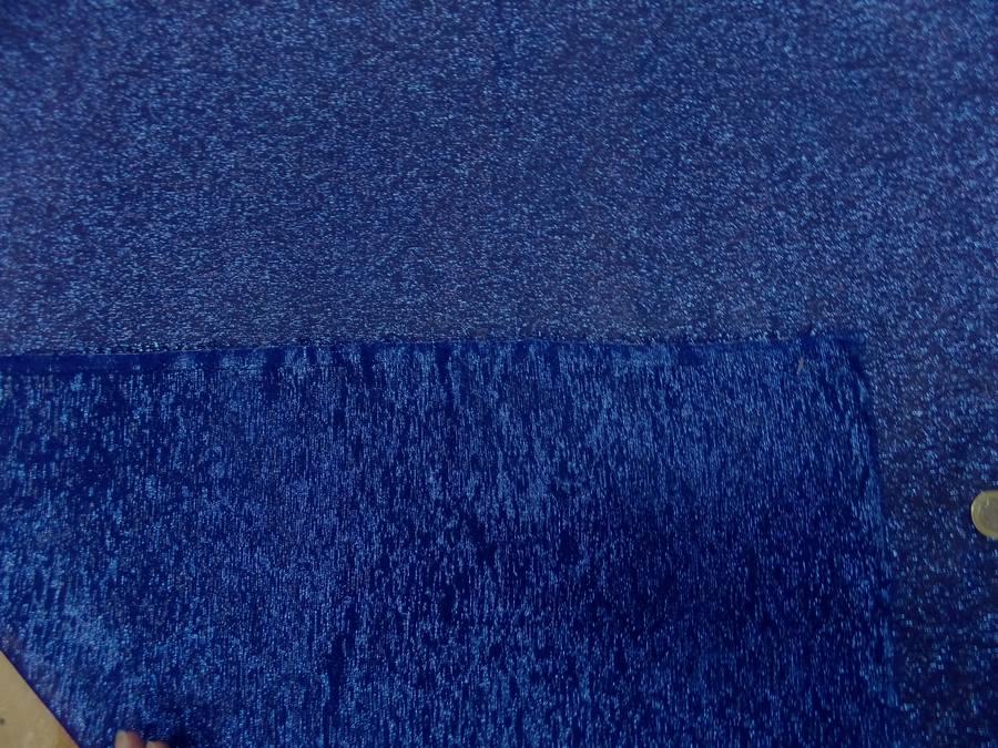 Mousseline de soie bleu en lurex 01