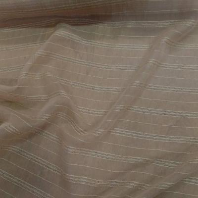 Mousseline de soie brode beige