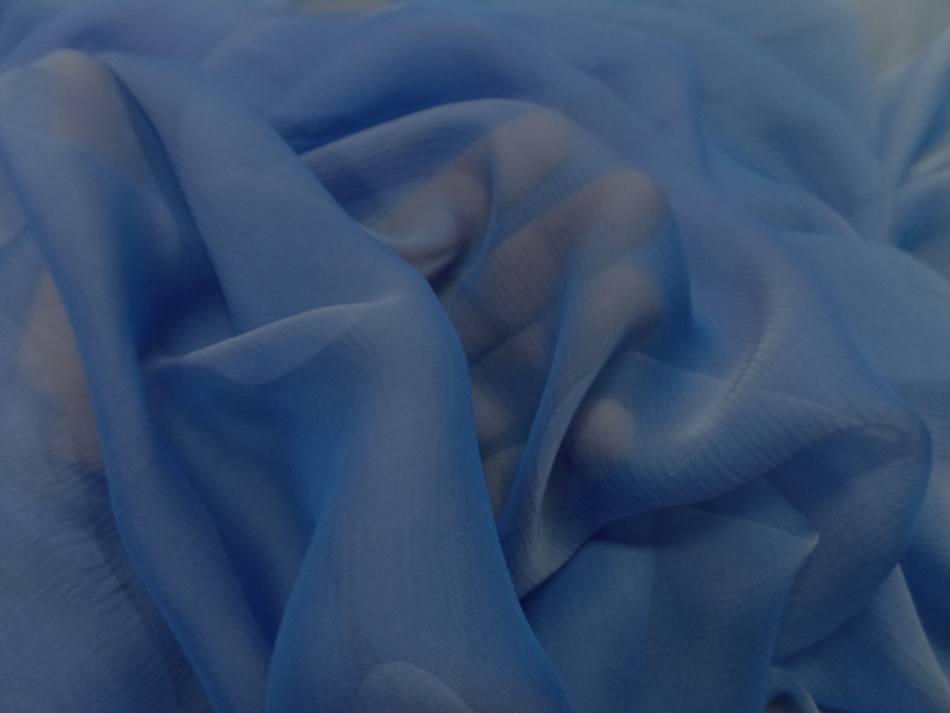 Mousseline de soie crepon bleu changeant en 1 20m de large8