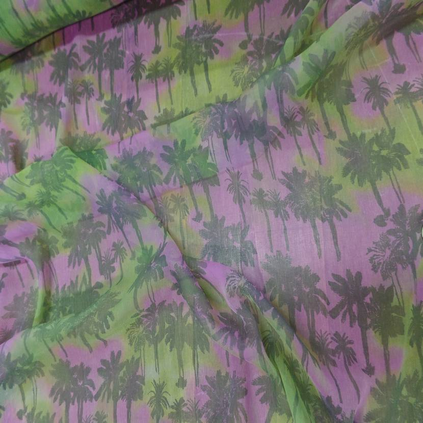 Mousseline de soie imprime palmier8 1