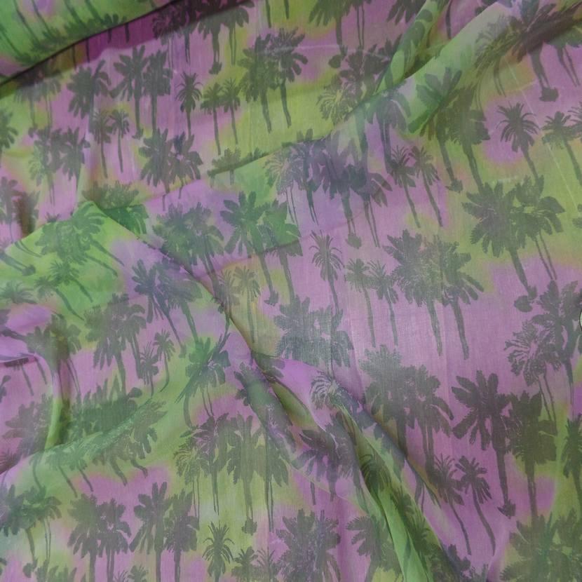Mousseline de soie imprime palmier8