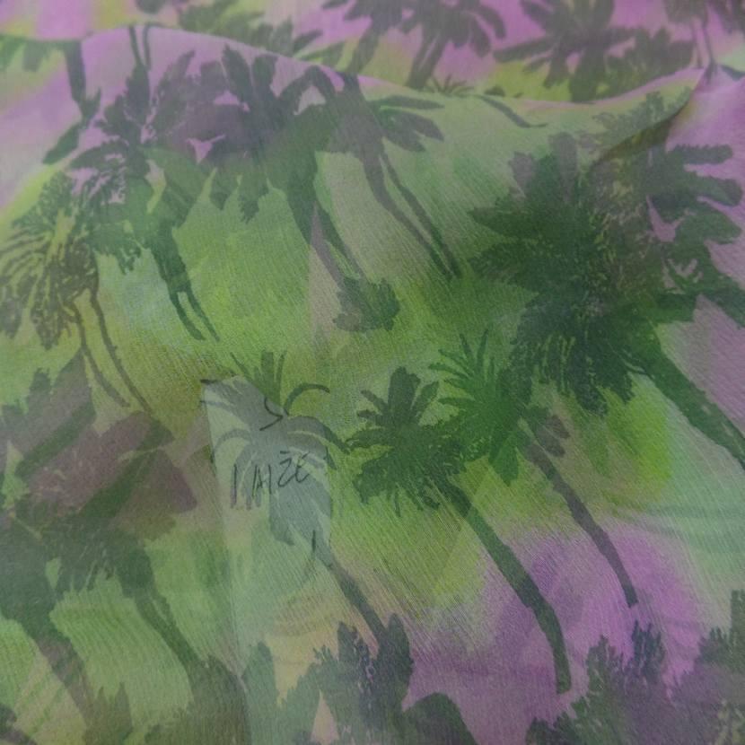 Mousseline de soie imprime palmier9