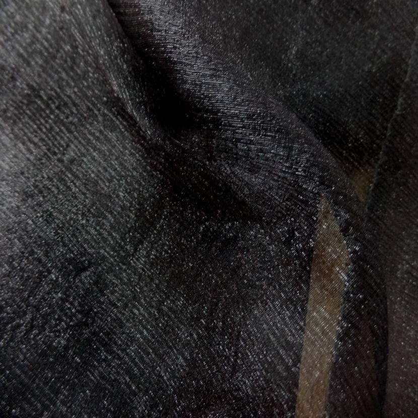 Mousseline de soie noire lurex metal3