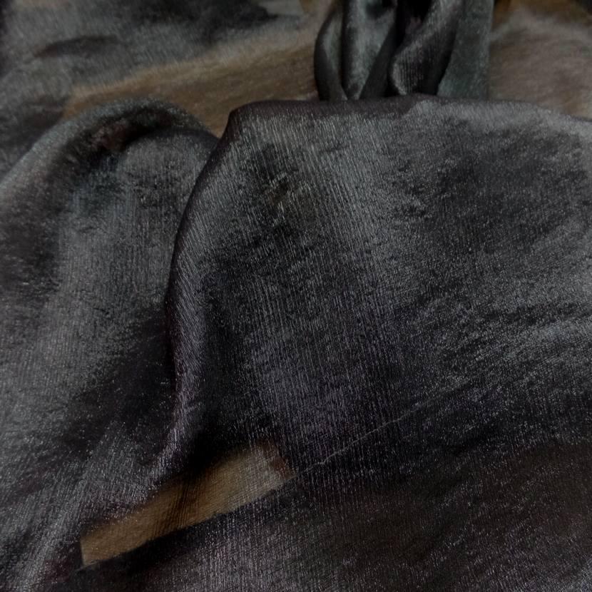 Mousseline de soie noire lurex metal5