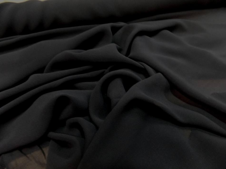 mousseline de soie noire