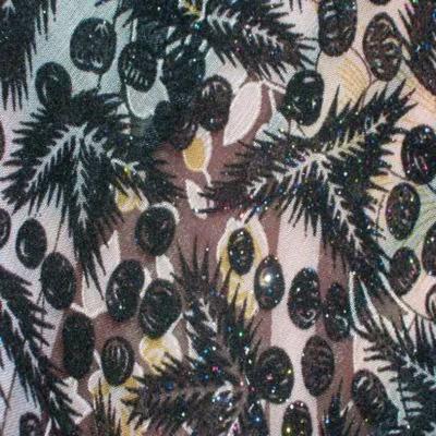 Mousseline imprime a motifs devore en velours