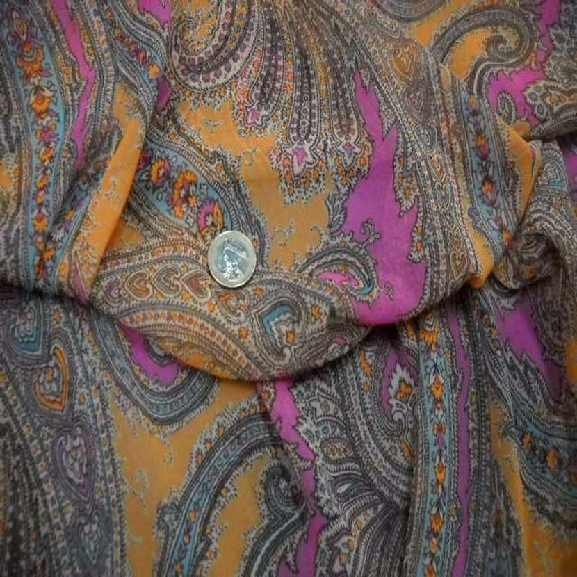 Mousseline imprime en polyester motifs cachemire
