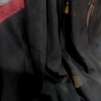 Mousseline polyester noire