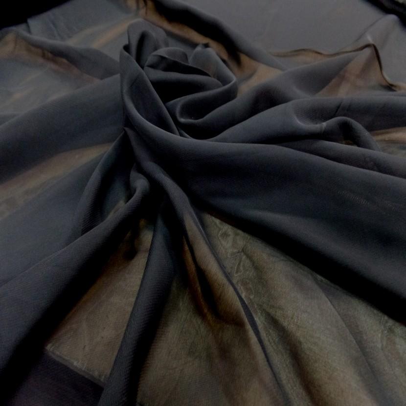 Mousseline polyester noire4